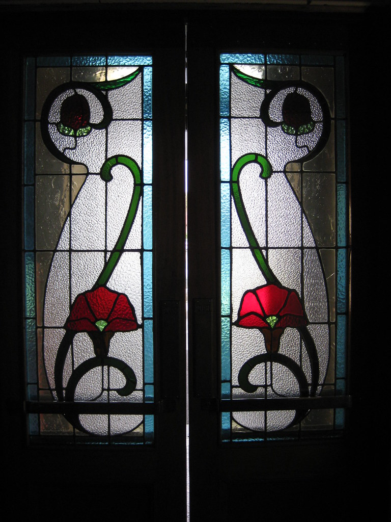 The Art Nouveau Stained Glass Inner Vestibule Doors Of Rei