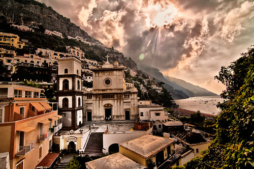 Church square, Positano, at sunrise | by joeeisner -thanks for 1.2M views!