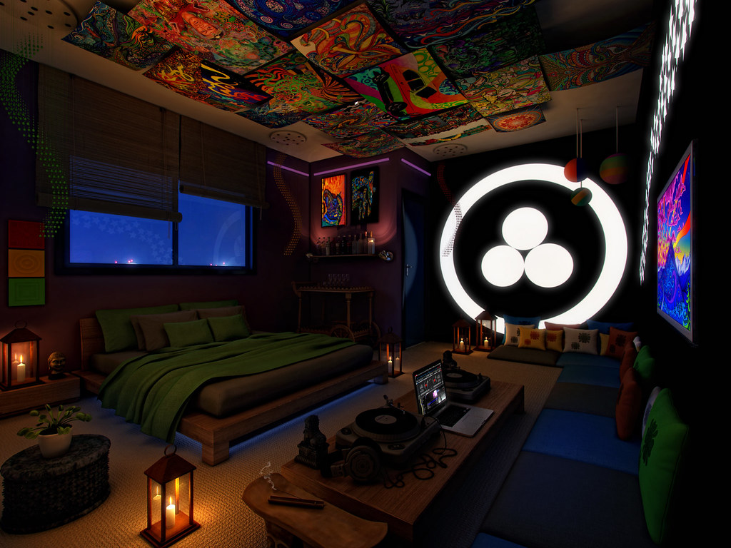 trippy bedroom ideas - magiel