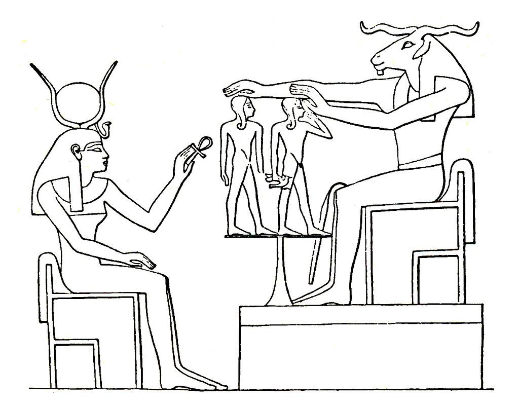 teogamia del nacimiento de amenhotep iii  el dios creador