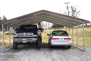 20x20 Double Wide Carport Boxed Eave Double Wide