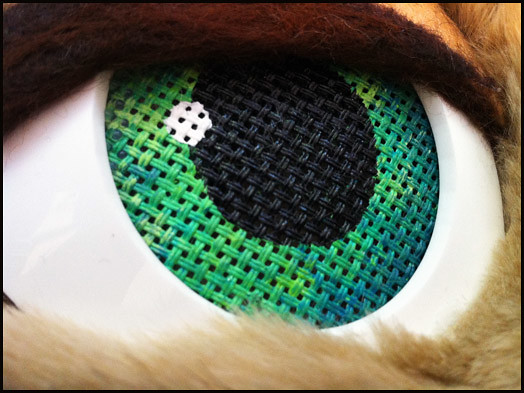 Kitty Fursuit Close Up Of Eye Buckram For Those That