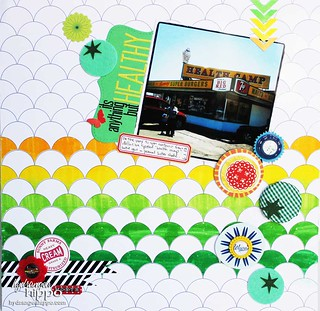 Its Anything But Healthy Layout Jennifer Priest for Tombow | by jenniferppriest