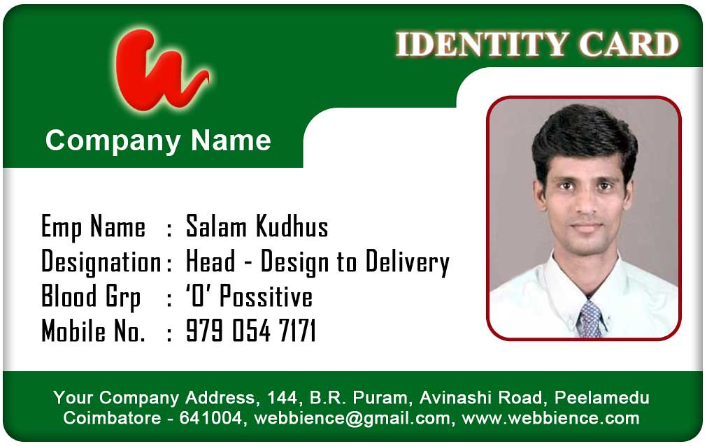 identification card templates free download