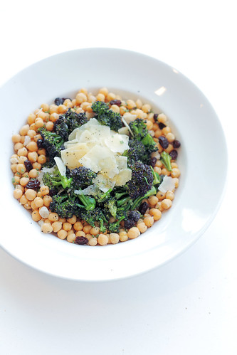 Chickpeas, Purple Sprouting Broccoli and Parmigiano | by Salad Pride