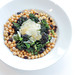 Chickpeas, Purple Sprouting Broccoli and Parmigiano