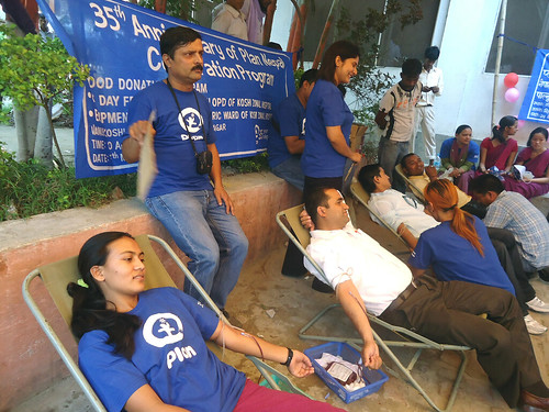 Plan staff donating blood to mark Plan Nepal's 35th anniversary | by Plan Asia