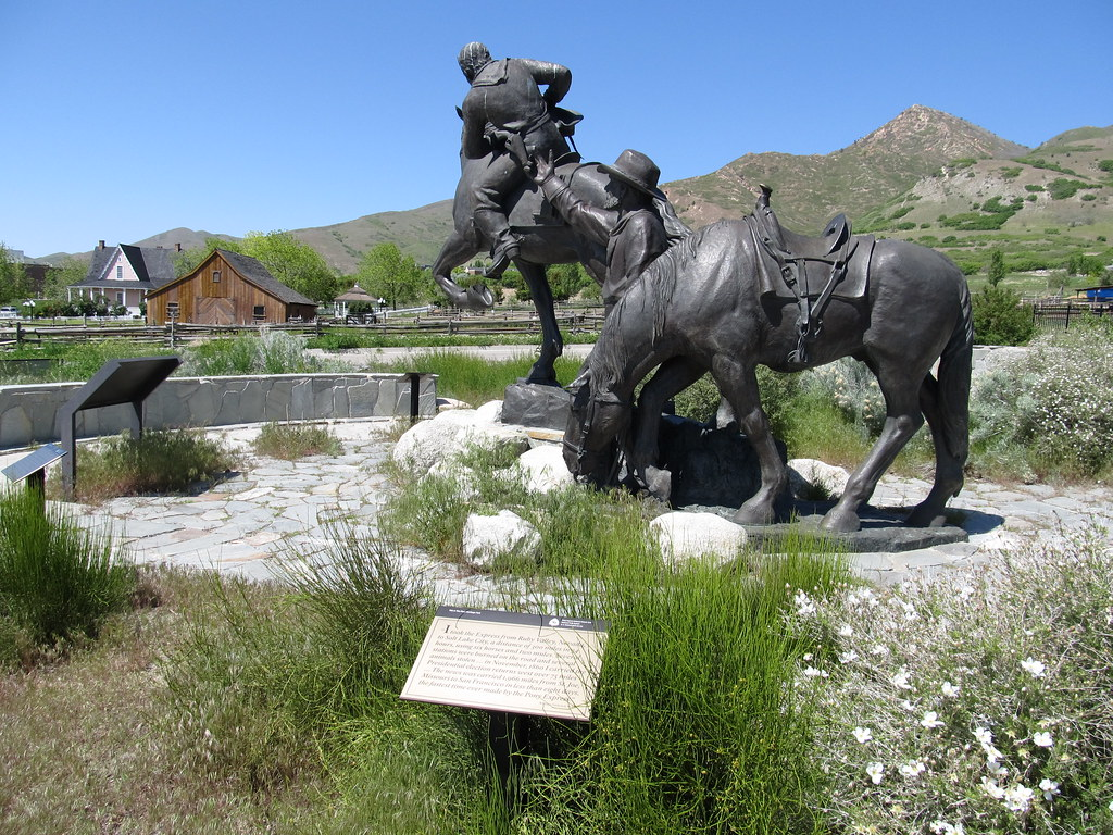 National Pony Express Monument Salt Lake City Utah Flickr