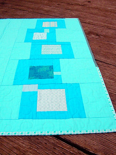 Blue squares quilt back | by greenleaf goods