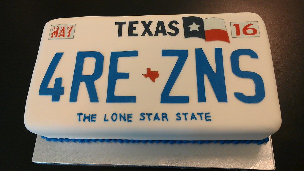Texas License Plate Cake Please Allow At Least 14 Days