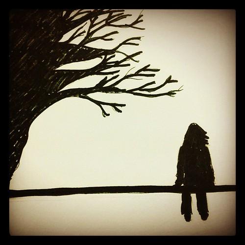 Sketch Silhouette Alone Feeling Instagram Flickr