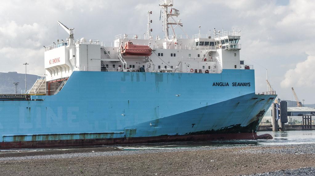 MS Anglia Seaways Docking (Belfast Port) 005