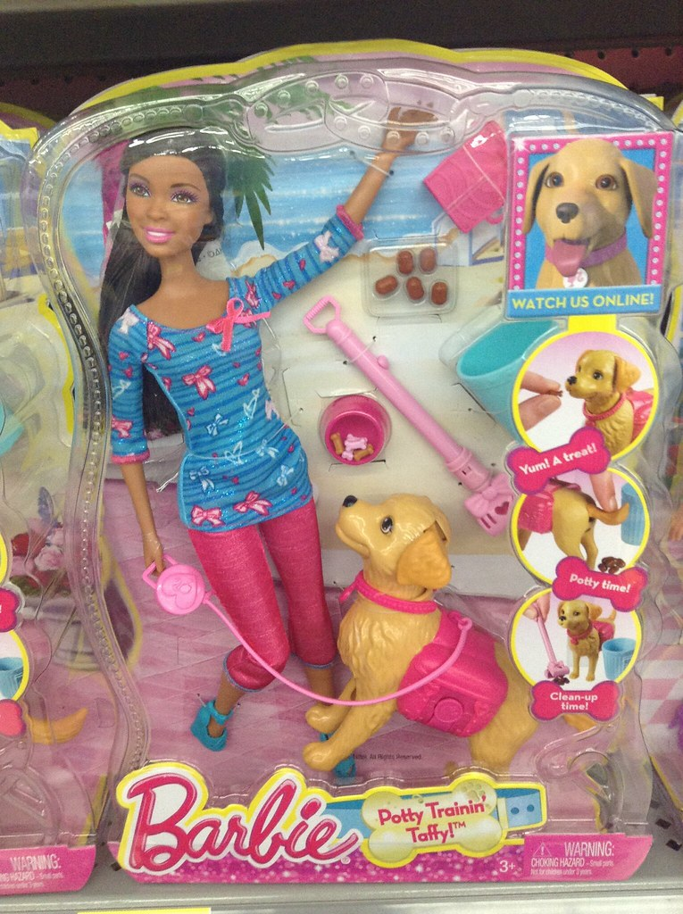Pooping Dog Barbie Toy