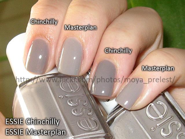 Essie Chinchilly Vs Masterplan 2 Coats Natural Light