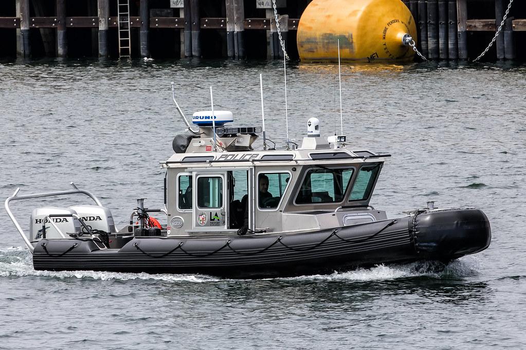 Los angeles port police boat us defender safe boat flickr for La port police