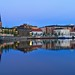 Reflections of Luleå (Lulea) / North Sweden at Twilight