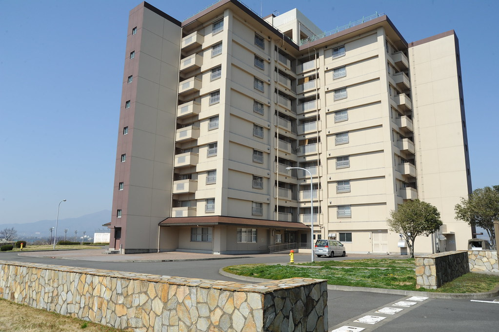 Camp Zama High Rise Building An Exterior View From One