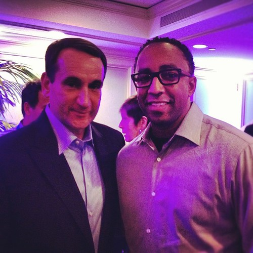Just met Coach K after a great talk at a private @Buick event. #buickncaa #finalfour | by Hajj Flemings