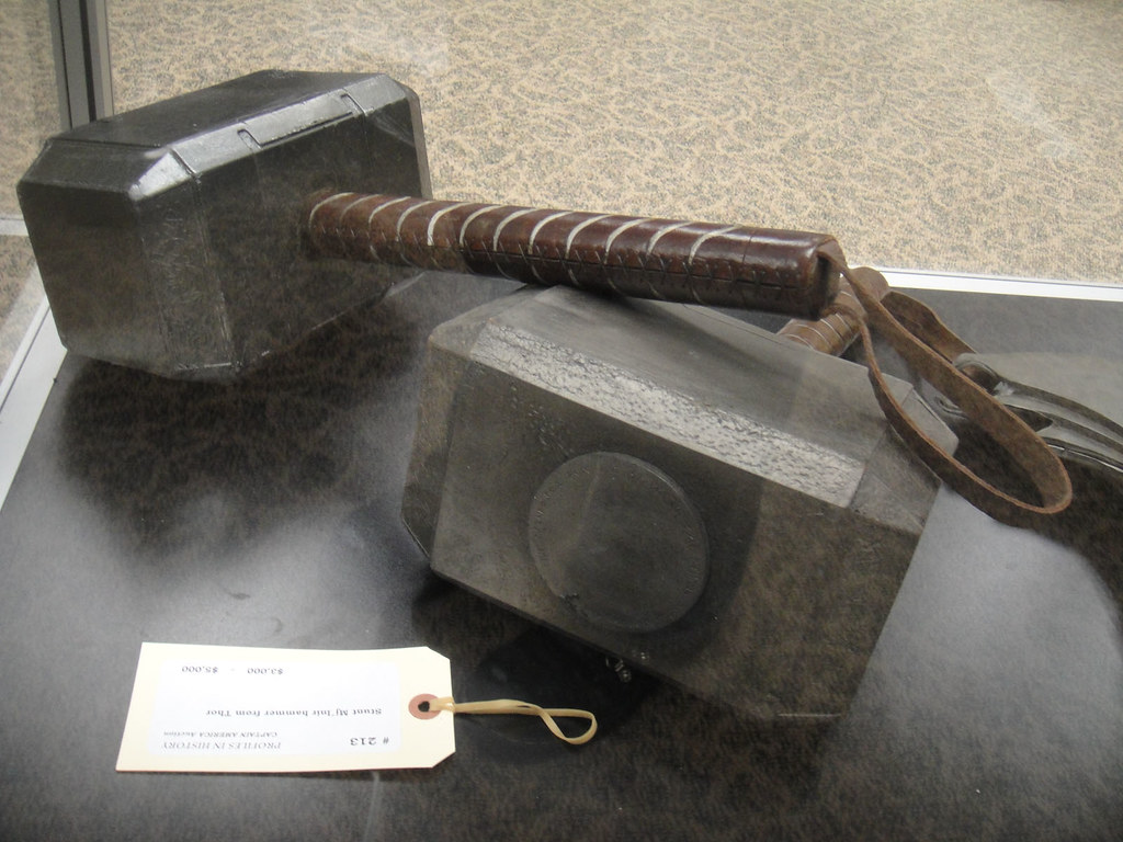 captain america prop auction thor 39 s hammers photo 2012