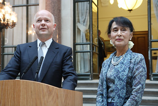 Foreign Secretary William Hague with Daw Aung San Suu Kyi | by Foreign and Commonwealth Office