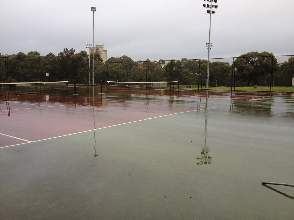 No Sport Today Tennis Court Pools At Monash University Cla Leonie Bourke Flickr