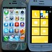 iPhone 4S and Nokia Lumia 710 Home Screens