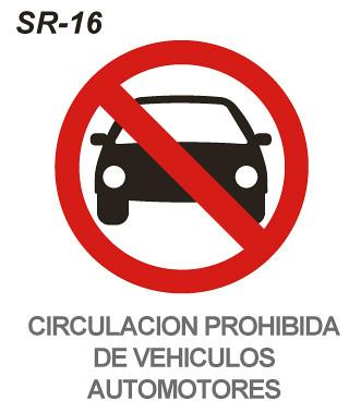 Circulación prohibida de vehículos automotores | Esta
