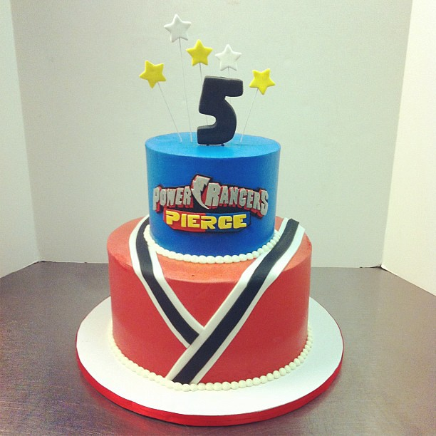 Astonishing Power Rangers Birthday Cake Austin Customcake Polkadots Olga Personalised Birthday Cards Veneteletsinfo