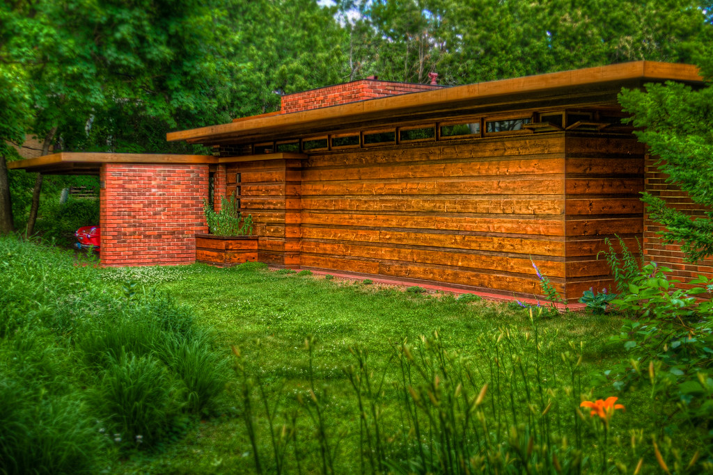 the jacobs house this frank lloyd wright usonian example. Black Bedroom Furniture Sets. Home Design Ideas