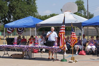 Congressman Sessions speaking at theUniversity Meadows Memorial Day Veteran Recognition Ceremony | by Congressman Pete Sessions