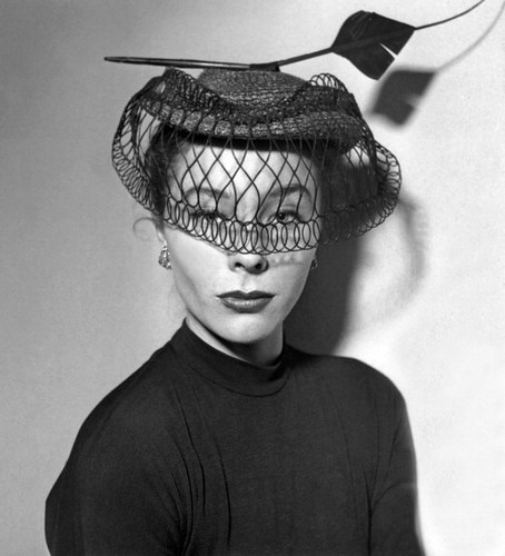 Bettina models a hat by Rose Valois, 1951 | by skorver1