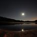 Pleine lune au lac