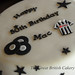 Newcastle United Black and White 50th Birthday Cake