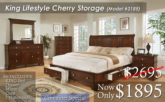 King Lifestyle Cherry Storage 3185
