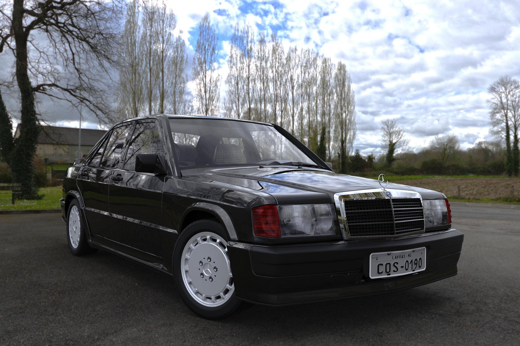 (W201): Modelo 3D - 190E 2.3-16 Cosworth 26719189060_c181ad9e8b_k