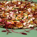 Zucchini, Meyer Lemon, Feta, Walnuts, Micro Amaranth Salad (made at home)