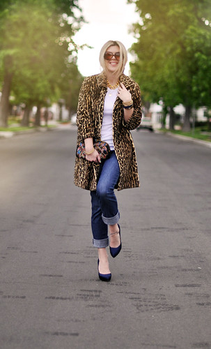 Leopard Coat -jeans- vintage accessories | by ...love Maegan
