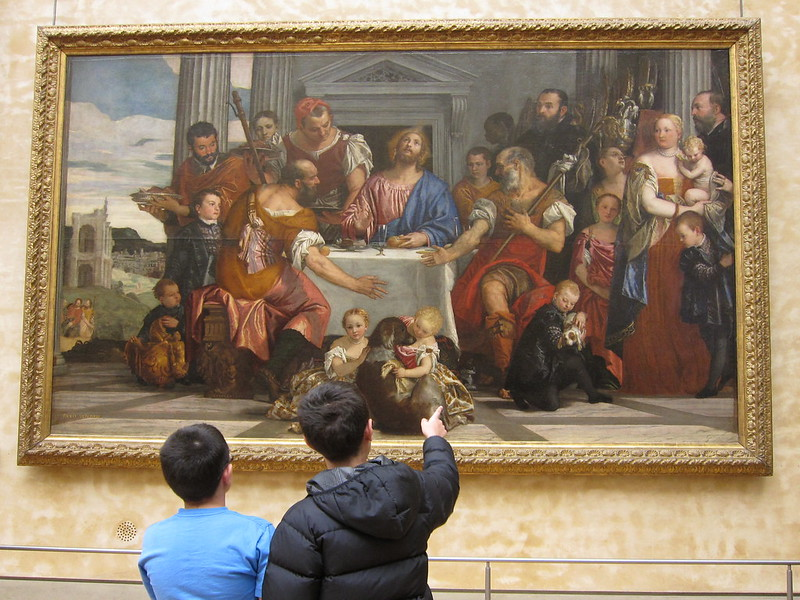 The boys at the Louvre