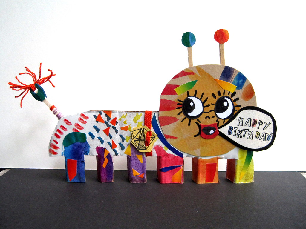 bug paper toys paper bug a paper collage bug made with recycled 1178