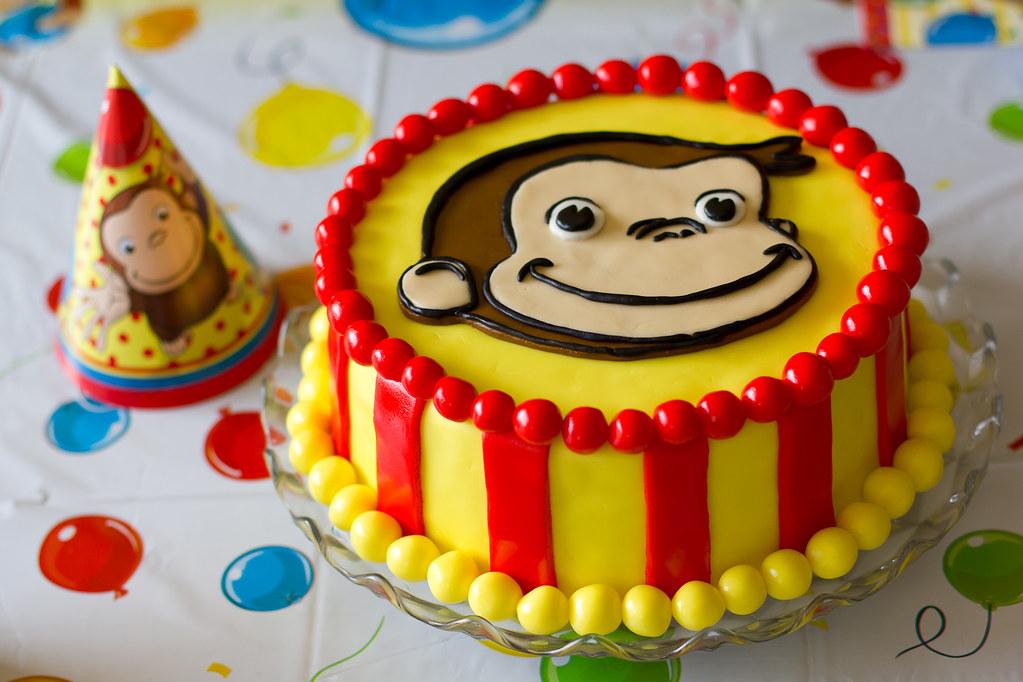 Curious George Birthday Cake Kristi Dugan Flickr