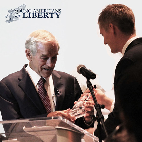 Ron Paul receiving the Ron Paul Legacy Award | by YoungAmericansforLiberty