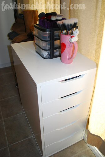 ikea vika alex organizer got this recently to store some o flickr. Black Bedroom Furniture Sets. Home Design Ideas