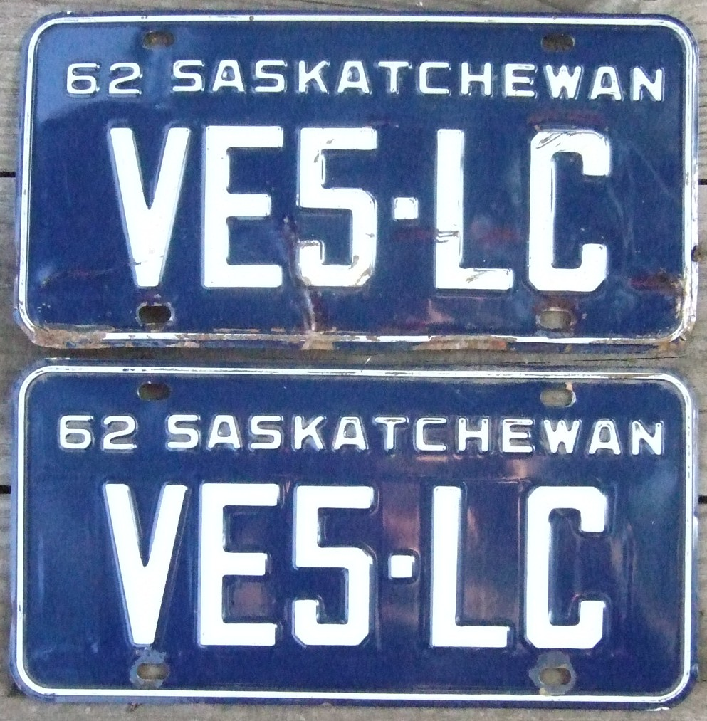 License Plate Camera >> SASKATCHEWAN 1962 ---AMATEUR RADIO LICENSE PLATE PAIR | Flickr