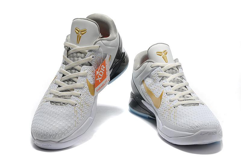 Nike-Zoom-Kobe-7-VII-Elite-Home-White-Gold-Black 3  ea60fba3a