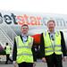 Jetstar ANZ CEO meets Tourism TAS CEO at Hobart Airport