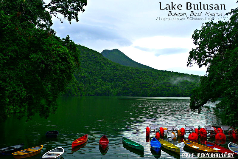 lake bulusan a beautiful lake with a view of a volcano
