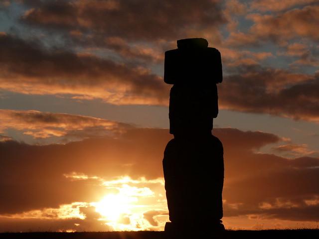 Moái en Isla de Pascua