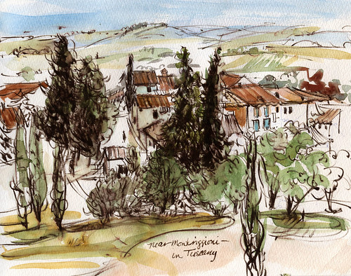 Tuscany sketchbook: near Monteriggioni | by laurelines