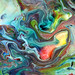 Flowing Acrylic Paint