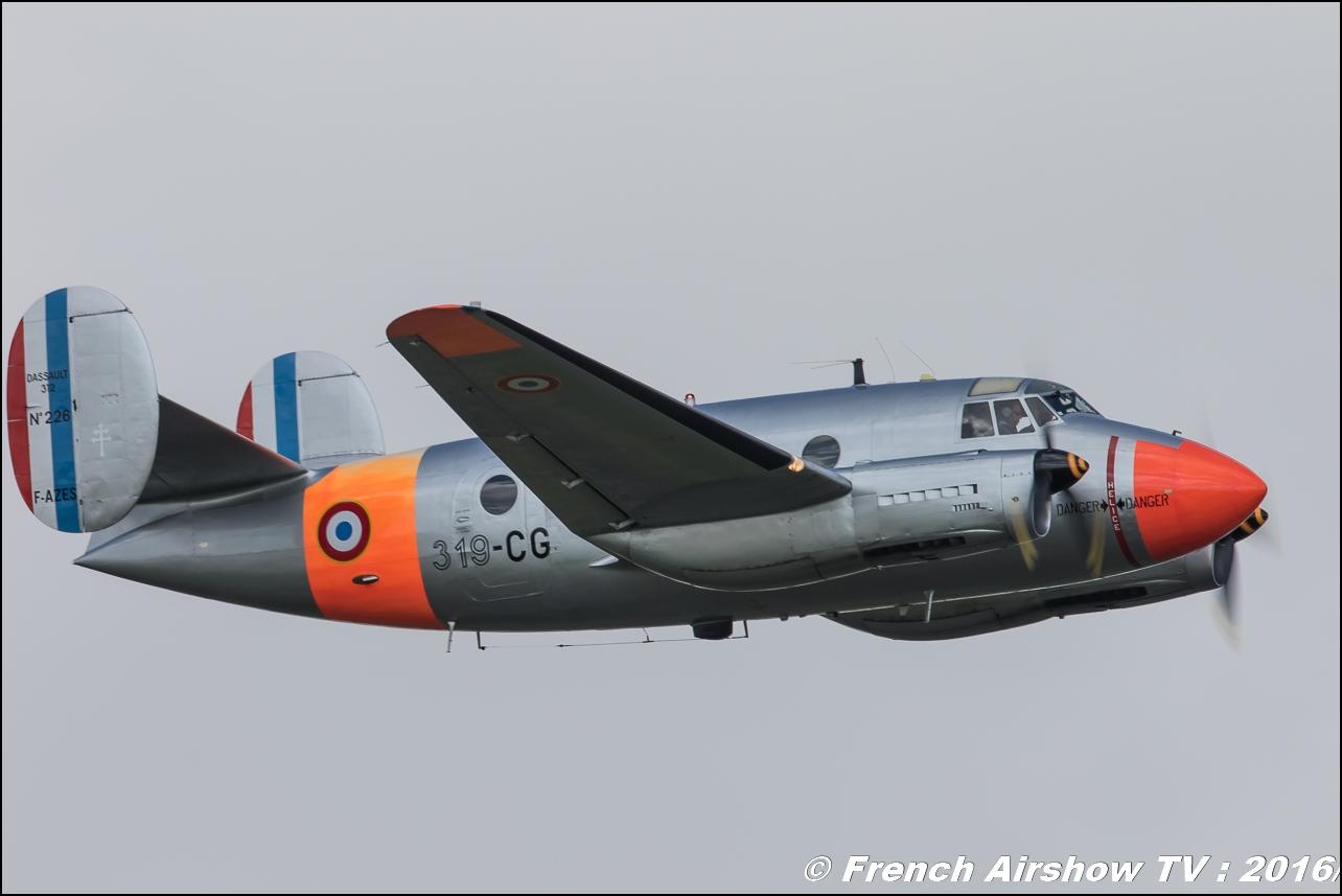 MD-312 Flamant II N°226 F-AZES , Montbéliard Dassault 312 ,Meeting de l'air BA-702 Avord , Meeting Aerien Avord 2016 , FOSA , Armée de l'air , Canon Reflex , EOS System
